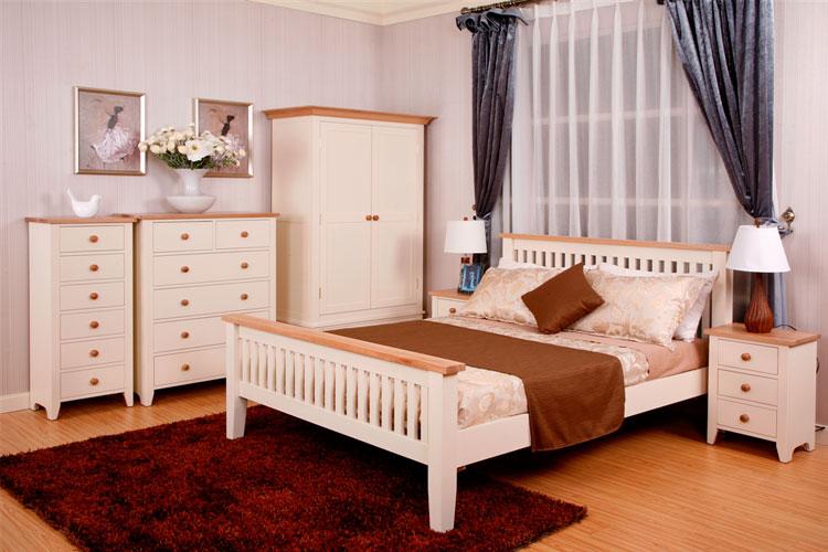 木夕城家具简单件套四家具实木床双人床1.5米商场感谢卧室图片
