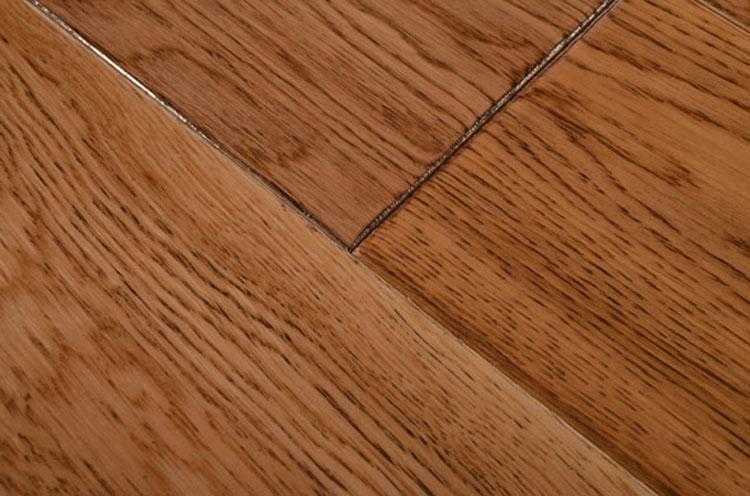 方饰木地板 橡木仿古斜倒角01 多层实木复合地板 地暖