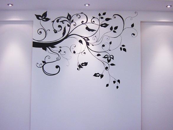 大津 液体手绘背景墙 横树(800元起做)