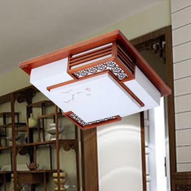 雷士照明nsx1393-3*36中式木架亚克力吸顶灯 带光源