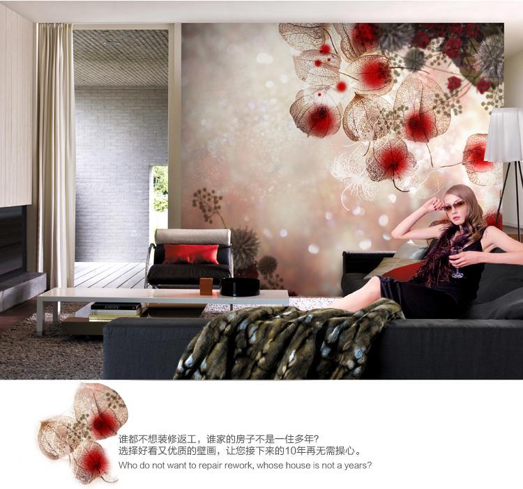 无纺壁画 壁纸电视墙背景墙纸客厅 沙发背景简约影视墙