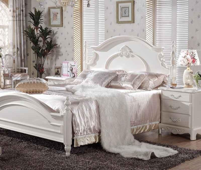 林泉梦巢家居卧室白色家具五件套欧式家具【图片