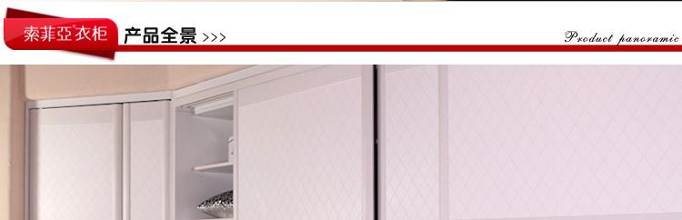 索菲亚衣柜移门开门C8边框米白皮革门定制组合E0环保多款风格