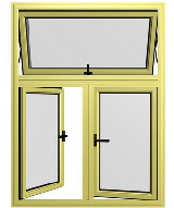 【万增门窗】1.4mm凤铝50型平开窗密封性好中空玻璃