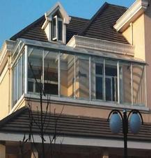 【上海万增门窗品牌定制】 圆弧型高档别墅阳光房 落地阳台窗上门测量