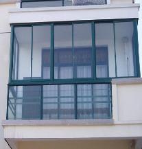 【万增门窗】 757型 铝合金封窗 单层浮法玻璃 经济实惠