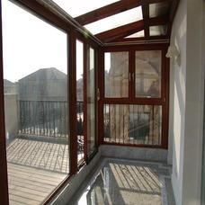 【万增门窗】上海实例木纹阳光房 铝合金专业阳光房订制
