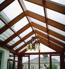 [万增门窗]美亚宝木纹玻璃阳光房 上海实例别墅阳光房