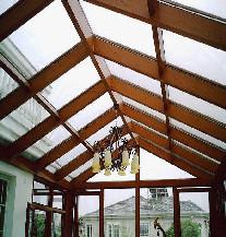 [万增门窗]中美合资新美鱼木纹玻璃阳光房 上海实例别墅阳光房