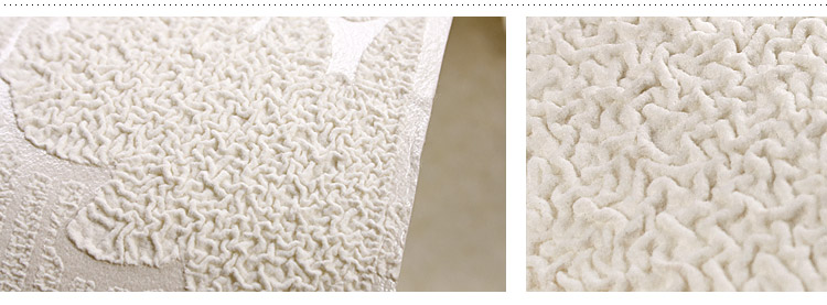 乳白色欧式墙纸 大马士革客厅壁纸