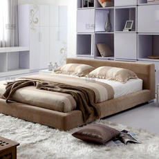 四格简约软包床 双人布床 1.5米布艺软床可拆洗上海包安装-301