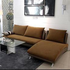 四格 上海转角沙发3人+贵妃位简约小户型客厅布艺沙发 2008|上海市区包安装,江浙包送到楼下