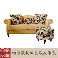 四格新品沙发 欧式田园沙发 双人沙发 布艺沙发 T921|上海包安装,江浙市区包送货到楼下,