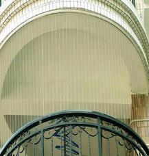 上海万增门窗弧形隐形儿童安全防护窗