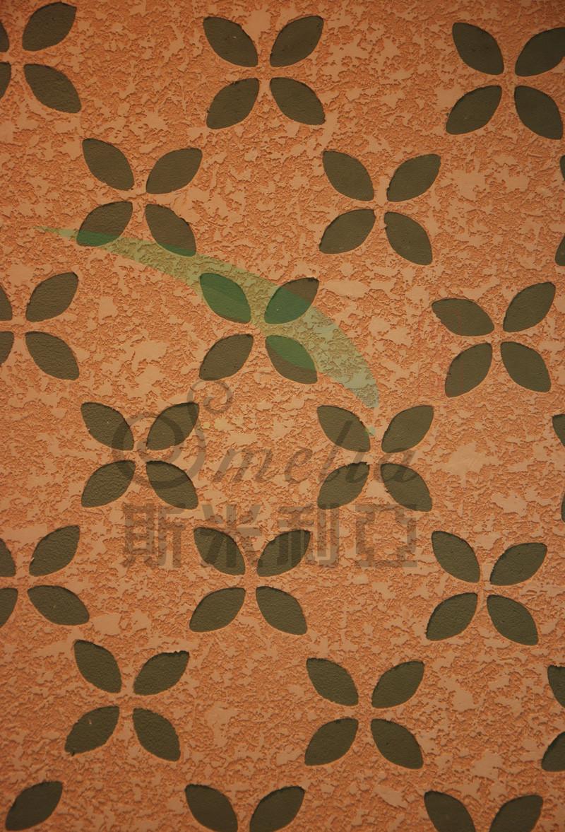 硅藻泥壁纸花
