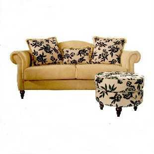 四格 新品客厅沙发 欧式田园沙发 三人沙发 布艺沙发 T921|上海包送货,江浙市区送到楼下,做旧的格调,你懂的