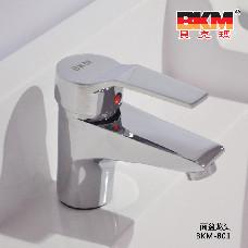 贝克玛卫浴 BKM-801 冷热水面盆龙头 浴柜台盆洗脸盆全铜单孔龙头