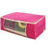 喜家家 透明窗整理袋 大号 粉色|买5送1