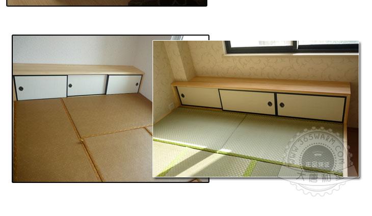 木制品节特惠 天地袋门 和室日式小柜门 定制榻榻米 本色 黑色