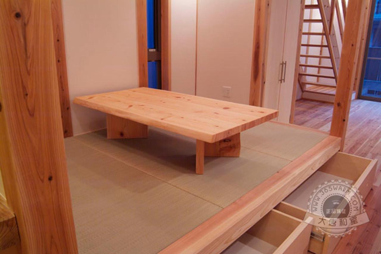榻榻米地台 塌塌米箱体 松木地台樟子松木储物柜定制