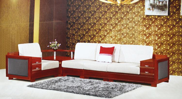 2 2储物功能转角实木沙发 转角沙发 中式风格