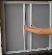 【万增门窗】 隐形卷帘式普及版纱窗