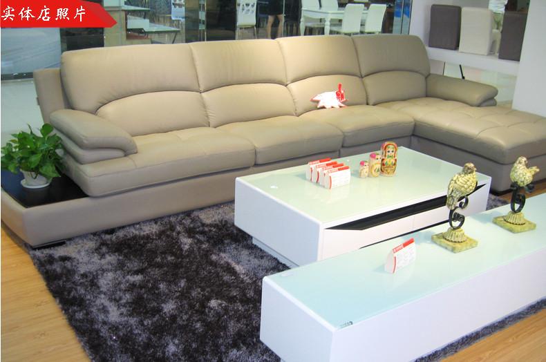 欧宝家居 朗驰皮沙发s056 现代系列 头层牛皮沙发图片