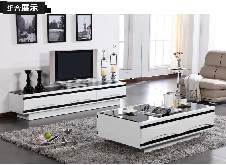 欧宝家居系列100#时尚简约 烤漆钢化玻璃电视柜图片