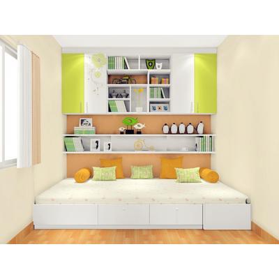 定制榻榻米书房兼客卧 书桌吊柜设计效果图方案