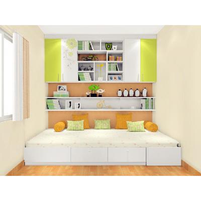 尚品宅配 定制榻榻米书房兼客卧 书桌吊柜设计效果图方案