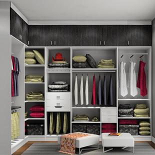 整体衣柜走入式衣柜豪华衣帽间 0元设计方案,尚品宅配