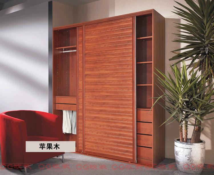 移门衣柜 整体衣柜 杉木板衣柜 【欧歌】衣柜 福庆e0级实木生态板苹