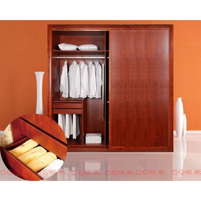 移门衣柜 整体衣柜 杉木板衣柜 【欧歌】衣柜 福庆e0级实木生态板苹果