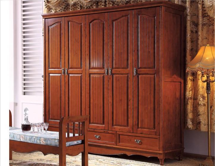 門衣柜蜂蜜色藍色 實木定制地中海歐式美式鄉村風格