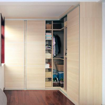 移门衣柜 整体衣柜 杉木板衣柜 【欧歌】衣柜 福庆e0级实木生态板栓木