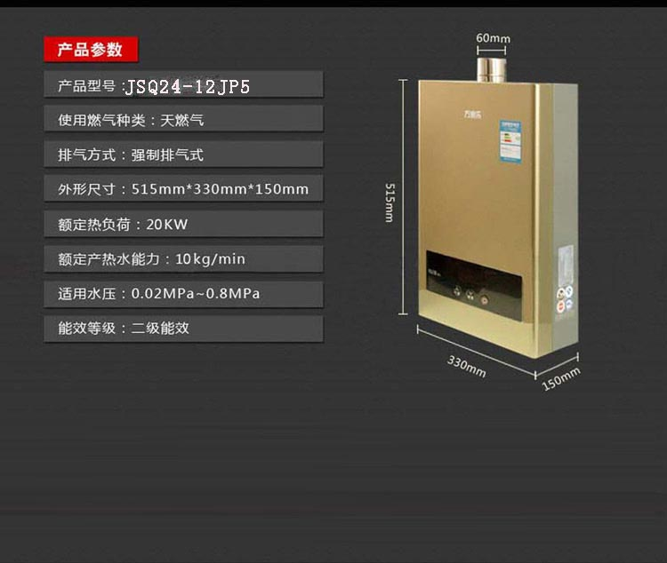 新款恒温 燃气热水器