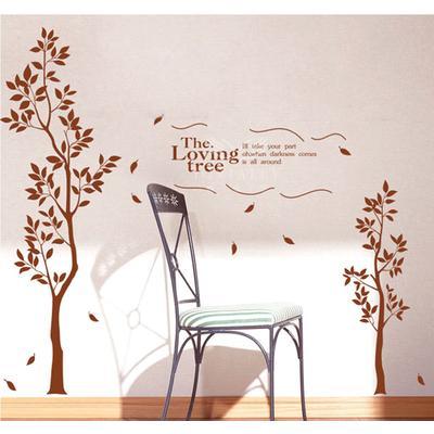 嘉佳乐硅藻泥客厅卧室沙发背景墙艺术弹涂jy-010 夫妻树