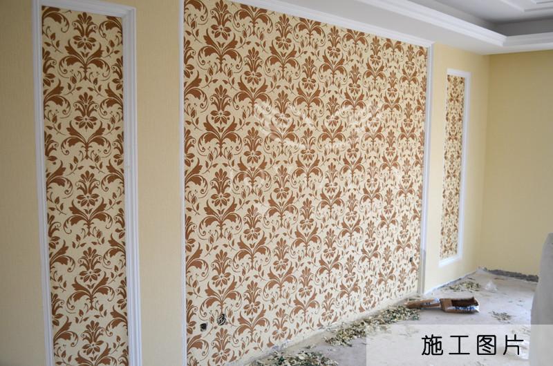 欧式沙发背景硅藻泥图案