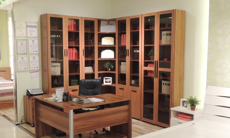 三门立体书柜 上下空间分割