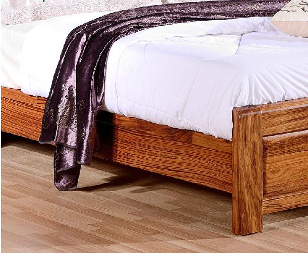 高端乌金木床 斑马木全实木双人床