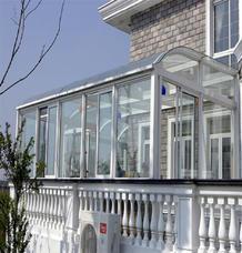 【万增门窗】上海铝合金圆型阳光房订制 2.0mm厚铝材阳光房