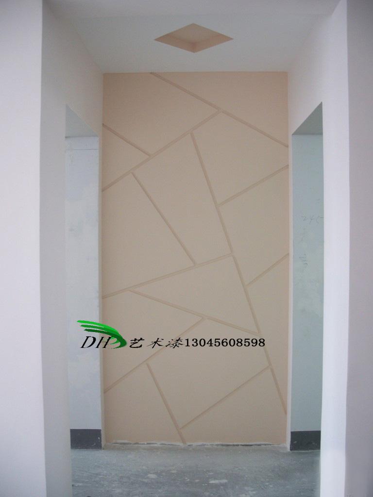 东华 艺术背景墙画 三辉硅藻泥 几何图形