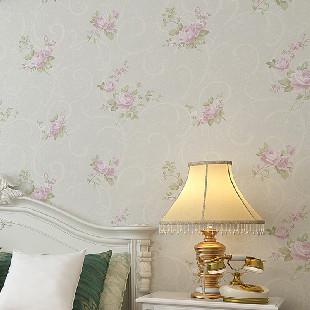 纸尚美学无纺布美式田园ha33015彩铅手绘风格客厅卧室