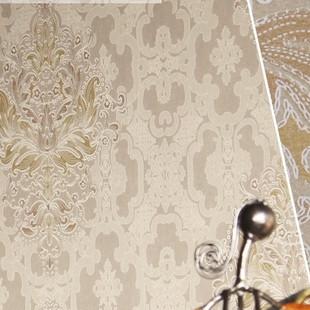 环保透气发泡花纹双色花无纺壁纸客厅卧室背景墙纸