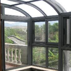 【万增门窗】上海阳光房 双圆弧阳光房安装实例 上海万增工厂订制