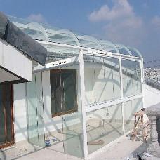 【万增门窗】上海凤铝阳光房厂家 凤铝799铝合金阳台窗