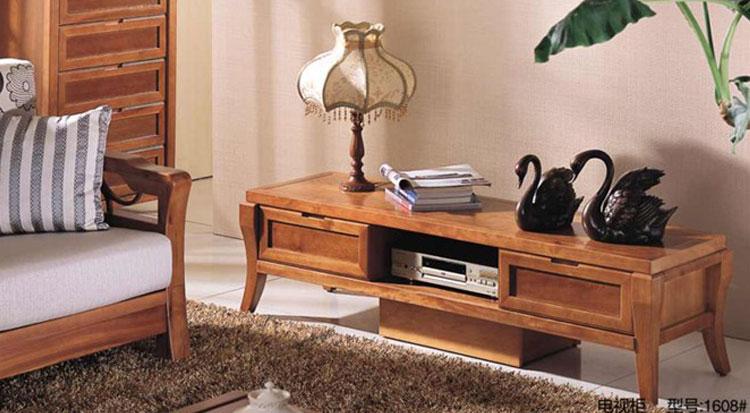 品牌包邮1608西南现货实木电视柜环保桦木现家具地中海客厅图片