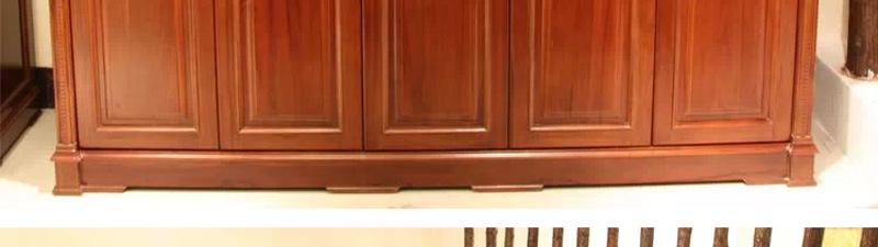德莱雅实木衣柜-杉木清漆柜体/红橡木门板【图片