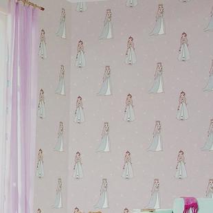 无纺布卡通米兰壁纸可爱公主房