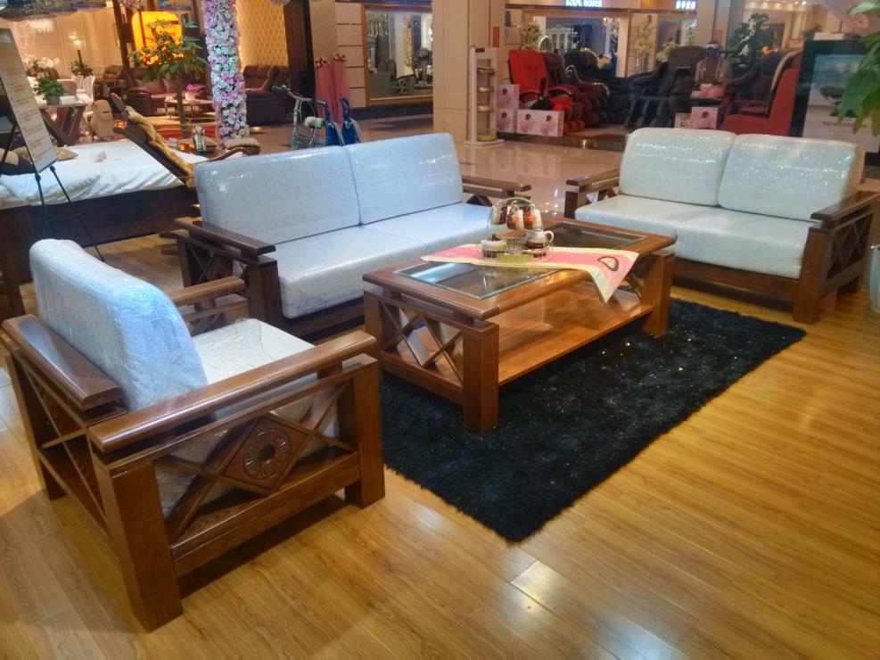光明家具茶几+沙发,重庆齐家家居专营店,普尔实木家具家居图片